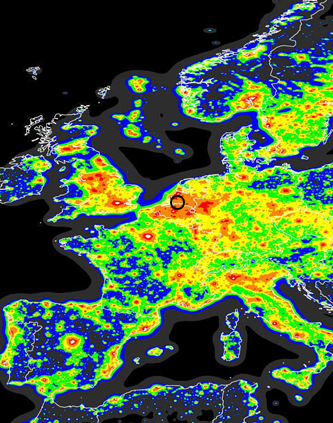 Light Pollution Map Europe